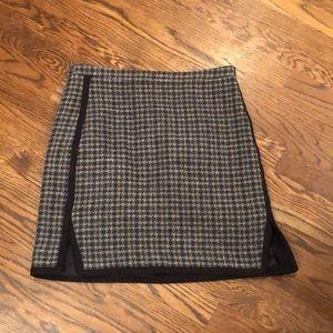 J crew wool mini skirt sz 4